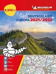 Michelin Straßenatlas Deutschland & Europa 2021/2022