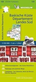 Michelin Karte Baskische Küste - Das Departement Landes Süd