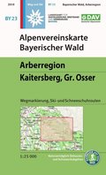 Alpenvereinskarte Bayerischer Wald, Arberregion, Kaitersberg, Gr. Osser
