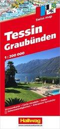Hallwag Strassenkarte Tessin und Graubünden