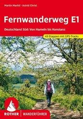 Rother Wanderführer Fernwanderweg E1 Deutschland Süd