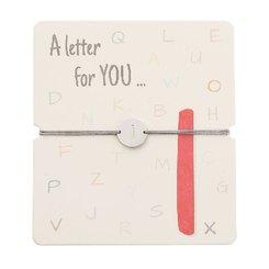 Armband mit Buchstaben - I