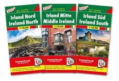 freytag & berndt Irland, Autokarten-Set 1:150.000, 3 Bl.