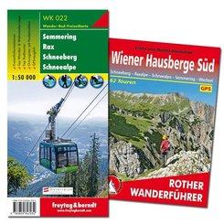 Wiener Hausberge Süd Wanderungen-Set, Wanderführer + Wanderkarte 1:50.000, in praktischer Umhängetasche