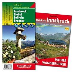 Innsbruck Wanderungen-Set, Wanderführer + Wanderkarte 1:50.000, in praktischer Umhängetasche