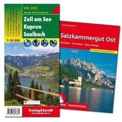Salzkammergut Wanderungen-Set, Wanderführer + Wanderkarte 1:50.000, in praktischer Umhängetasche