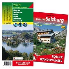 Salzburg Wanderungen-Set, Wanderführer + Wanderkarte 1:50.000, in praktischer Umhängetasche