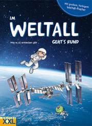Im Weltall geht's rund - m. Weltall-Poster