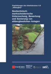 Geotechnisch-markscheiderische Untersuchung, Bewertung und Sanierung von altbergbaulichen Anlagen - Empfehlungen des Arb