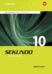 Sekundo, Ausgabe 2017 für Berlin und Brandenburg: 10. Schuljahr, Arbeitsheft mit Lösungen
