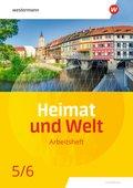 Heimat und Welt, Ausgabe 2020 für Thüringen: 5./6. Schuljahr, Arbeitsheft