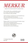 MERKUR Deutsche Zeitschrift für europäisches Denken - Nr.849