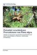 Potential verschiedener Provenienzen von Pinus nigra