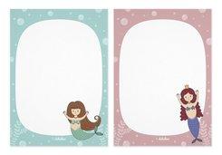 Notizblock-Set Meerjungfrau (für Kinder)