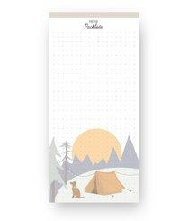 Notizblock: Packliste für Urlaub und Reise
