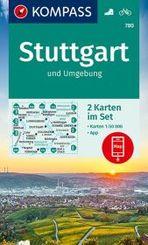 KOMPASS Wanderkarte Stuttgart und Umgebung, 2 Bl.