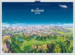 KOMPASS Panorama Die Allgäuer Alpen, Poster