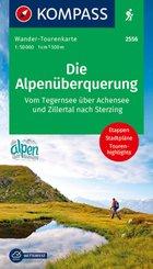 Kompass Wander-Tourenkarte Die Alpenüberquerung