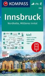 KOMPASS Wanderkarte Innsbruck, Nordkette, Mittleres Inntal
