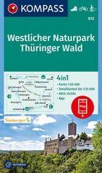 KOMPASS Wanderkarte Westlicher Naturpark Thüringer Wald
