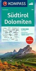 Kompass Wanderkarte Südtirol, Dolomiten