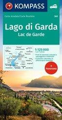 Kompass Panorama-Karte Gardasee - Lago di Garda