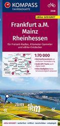 KOMPASS Fahrradkarte Frankfurt a.M., Mainz, Rheinhessen 1:70.000, FK 3348