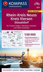 KOMPASS Fahrradkarte Rheinkreis Neuss, Kreis Viersen 1:50.000, FK 3211