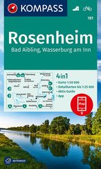 KOMPASS Wanderkarte Rosenheim, Bad Aibling, Wasserburg am Inn