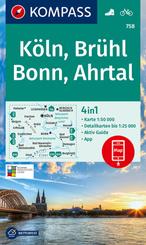 KOMPASS Wanderkarte Köln, Brühl, Bonn, Ahrtal