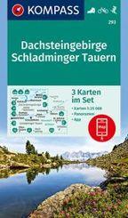 KOMPASS Wanderkarte Dachsteingebirge, Schladminger Tauern