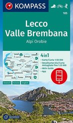 KOMPASS Wanderkarte Lecco, Valle Brembana, Alpi Orobie