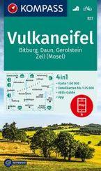 KOMPASS Wanderkarte Vulkaneifel, Bitburg, Daun, Gerolstein, Zell (Mosel)
