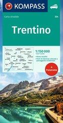 Kompass Wanderkarte Trentino Panorama