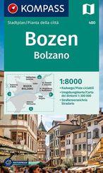 Kompass Stadtplan Bozen / Bolzano
