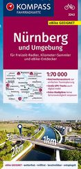 KOMPASS Fahrradkarte Nürnberg und Umgebung 1:70.000, FK 3343