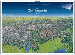 KOMPASS Panorama Die Zentralalpen, Le Alpi, Poster