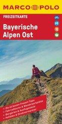 MARCO POLO Freizeitkarte Bayerische Alpen Ost