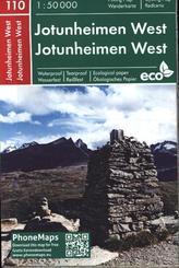 Jotunheimen West, Wander- Radkarte 1 : 50 000
