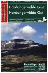 Hardangervidda Ost, Wander- Radkarte 1 : 50 000