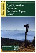 Sarntaler Alpen, Bozen, Wander- Radkarte 1 : 50 000