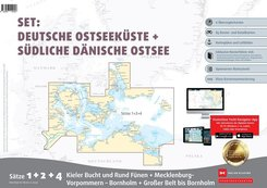 Sportbootkarten Satz 1, 4 und 5 Set: Dänische Ostsee und Kieler Bucht (Ausgabe 2020)