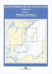 Berichtigung Sportbootkarten Satz 11: Ostküste Schweden 1 (2020)