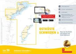 Sportbootkarten Satz 12: Ostküste Schweden 2 (Ausgabe 2020)