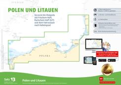 Sportbootkarten Satz 13: Polen und Litauen (Ausgabe 2020)