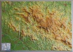 Bayerischer Wald Reliefkarte klein 1:275.000