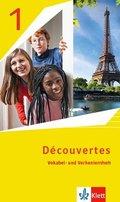Découvertes. Ausgabe ab 2020: Découvertes. Ausgabe ab 2020 - Vokabel- und Verbenlernheft 1. Lernjahr - Bd.1