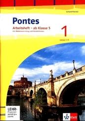 Pontes Gesamtband. Ausgabe 2020: Arbeitsheft Klasse 5 mit Mediensammlung und Vokabeltrainer 1. Lernjahr