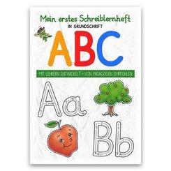 Mein buntes Kinder-ABC Grundschrift Schreiblernheft DIN A4