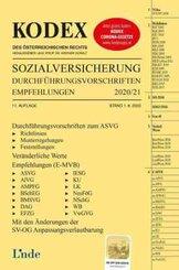 KODEX Sozialversicherung 2020/21 (f.Österreich); I